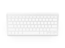 Derisione bianca in bianco di progettazione della tastiera su Keyp vuoto dei bottoni fotografia stock libera da diritti