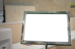 Derisione in bianco del tabellone per le affissioni di informazioni su Immagini Stock Libere da Diritti
