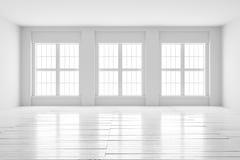 Derisione dell'interno della stanza bianca su Fotografie Stock