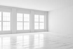 Derisione dell'interno della stanza bianca su Fotografie Stock Libere da Diritti