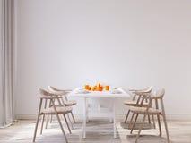 Derisione di mattina della primavera sull'interno della sala da pranzo della parete illustrazione di stock