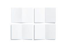 Derisione a più pagine bianca in bianco del libretto a5 su, lato posteriore anteriore Fotografia Stock