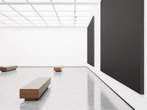 Derisione su dell'interno con tela nera 3d rendono Immagine Stock Libera da Diritti