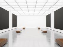 Derisione su dell'interno con tela nera 3d rendono Fotografie Stock Libere da Diritti
