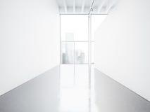 Derisione su dell'interno dello spazio aperto 3d rendono Immagini Stock