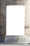 Derisione su Insegna del tabellone per le affissioni, finestra della vetrina del deposito, esposizione alta di derisione del cont Fotografia Stock