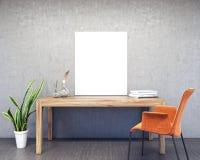 Derisione su interior design dell'area di lavoro illustrazione di stock