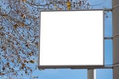 Derisione su Modello di pubblicità, bordo di informazioni sul palo nel parco fotografia stock