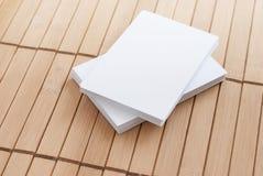 Derisione sul libro su fondo bianco Fotografie Stock Libere da Diritti