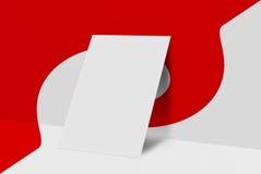 Derisione sulla cartolina e sulla copertura Immagine Stock