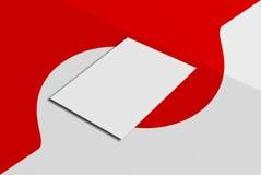 Derisione sulla cartolina e sulla copertura Fotografia Stock Libera da Diritti