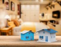 Derisione sulla casa con fondo interno Fotografie Stock Libere da Diritti