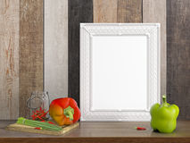 Derisione sulla struttura in bianco rappresentazione 3d Fotografia Stock Libera da Diritti
