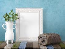 Derisione sulla struttura in bianco rappresentazione 3d Fotografia Stock