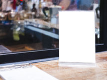 Derisione sulla struttura del menu sul fondo del caffè del ristorante di Antivari della Tabella Fotografia Stock