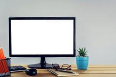 derisione sullo schermo di computer Fotografia Stock Libera da Diritti