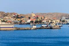 Deritz λιμάνι LÃ ¼ και πόλη στοκ εικόνα με δικαίωμα ελεύθερης χρήσης
