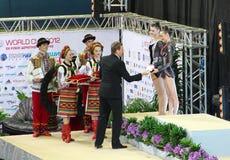 Deriugina Cup awarding ceremony Royalty Free Stock Photography