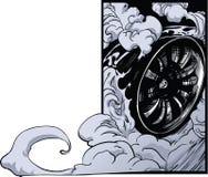 Derivação da roda de carro ilustração do vetor