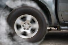Deriva de la rueda de coche Fotografía de archivo libre de regalías