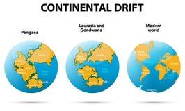 Deriva dei continenti Immagini Stock Libere da Diritti