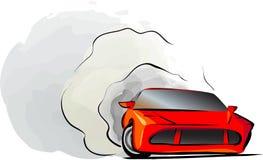 Deriva del coche deportivo stock de ilustración