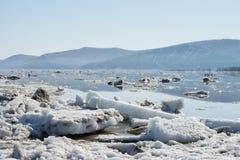 Deriva del ghiaccio Immagini Stock
