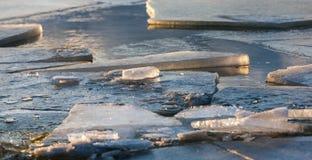 Derivas del hielo Fotografía de archivo libre de regalías