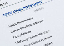 Derivatives investment Stock Image