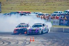 Derive os carros desportivos que competem em uma raça na competição 09 da tração de Vinnytsia 07 2017, foto editorial Foto de Stock Royalty Free