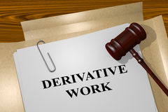 Derive Work - legal concept Royalty Free Stock Photos