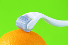 Derma roller for medical micro needling therpay Royalty Free Stock Image