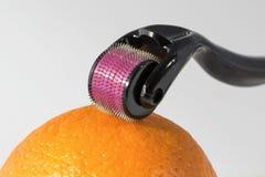 Derma rulle för therpay medicinsk needling för micro Royaltyfria Foton