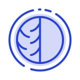 Dermatolog, dermatologia, Sucha skóra, skóra, skóry opieka, skóra, skóry ochrony linii linii błękit Kropkująca ikona ilustracja wektor