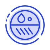Dermatologe, Dermatologie, trocken, Linie Ikone der Haut-blauen punktierten Linie vektor abbildung