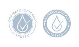 Dermatologically测试了传染媒介水下落象 皇族释放例证