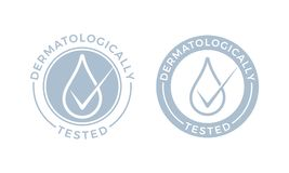 Dermatologically probó iconos del descenso del agua del vector libre illustration