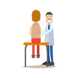 Dermatologist concept vector illustration in flat style Royalty Free Stock Images