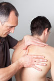 Dermatology treatment at doctor. Dermatology treatment at specialist doctor Royalty Free Stock Images