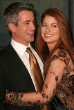 Dermot Mulroney Debra Messing Royaltyfria Foton