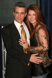 Dermot Mulroney Debra Messing Arkivbild