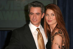 Dermot Mulroney Debra Messing Arkivfoto