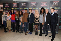 Dermot O'Leary, Kelly Rowland, Louis Walsh, Tulisa, Tulisa Contostavlos, Amelia Lily, Little Mix Royalty Free Stock Photography