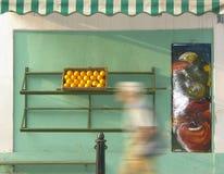 Dernière caisse d'oranges Images libres de droits