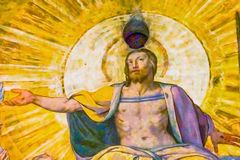 dernière cathédrale Florence de Duomo de dôme du fresque J de Vasari de jugement d'esus photos libres de droits