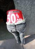 Dernière chance 50 pour cent hors fonction Images libres de droits