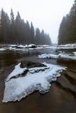 Dernière glace sur la rivière de ressort Photos libres de droits