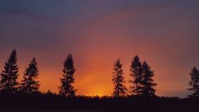 Dernières marques du soleil Photo stock