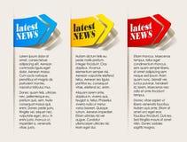Dernières nouvelles, éléments réalistes de conception Photographie stock libre de droits