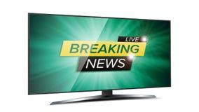 Dernières nouvelles Live Background Vector Écran vert de TV Calibre de conception de bannière d'affaires D'isolement sur l'illust Photo stock